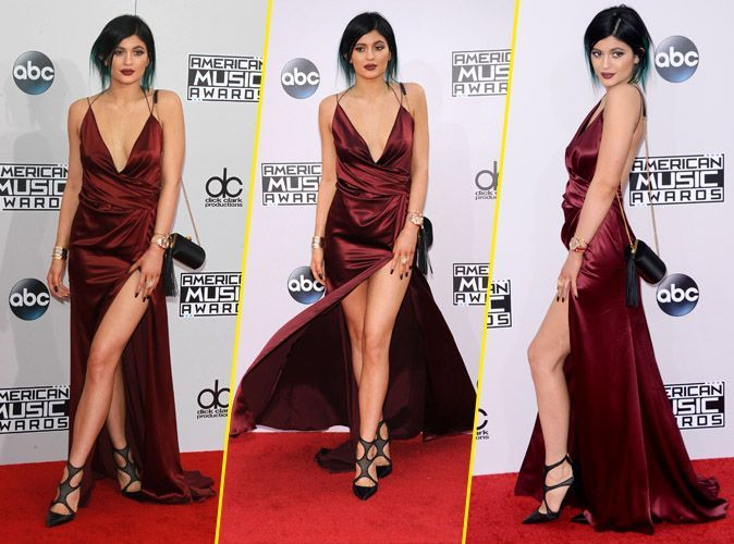 Kylie jenner elle ose la robe ultra fendue top ou flop for Kylie jenner robe
