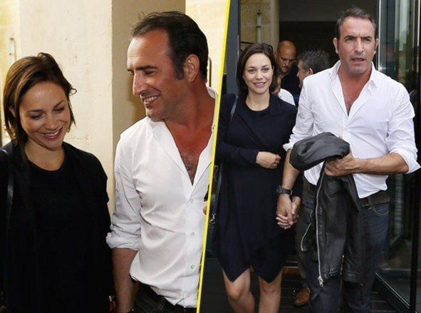 Jean dujardin papa sa compagne nathalie p chalat a for Jean dujardin famille