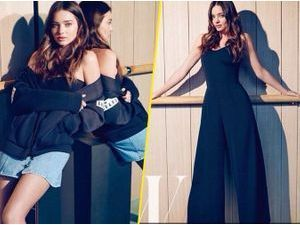 Photos : Miranda Kerr, ultra mimi en look casual pour W Korea !