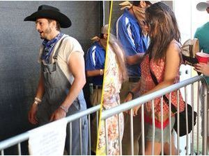 Photos : Ashton Kutcher et Mila Kunis : duo hippie et country au Stagecoach Music Festival !