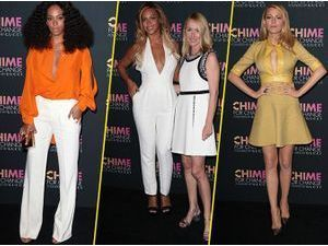 "Photos : Beyoncé, Solange Knowles et Blake Lively : radieuses et complices pour soutenir la campagne internationale ""Chime for Change"" !"