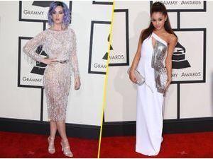 Photos : Grammy Awards 2015 : Katy Perry et Ariana Grande : entre élégance et faux pas, elles se démarquent du redcarpet !