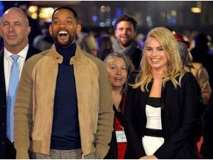 Photos : Will Smith et Margot Robbie : tout sourire et trop complices sur le red carpet ?