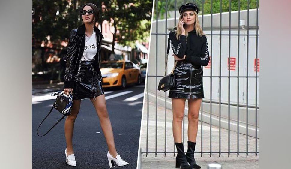Camila Coelho VS Chiara Ferragni : battle de jupe en vinyle !
