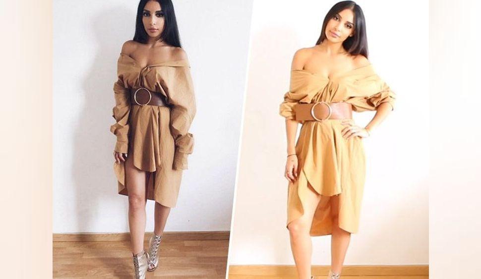 Sananas : Pocahontas des temps moderne en robe oversize et stilettos lacés